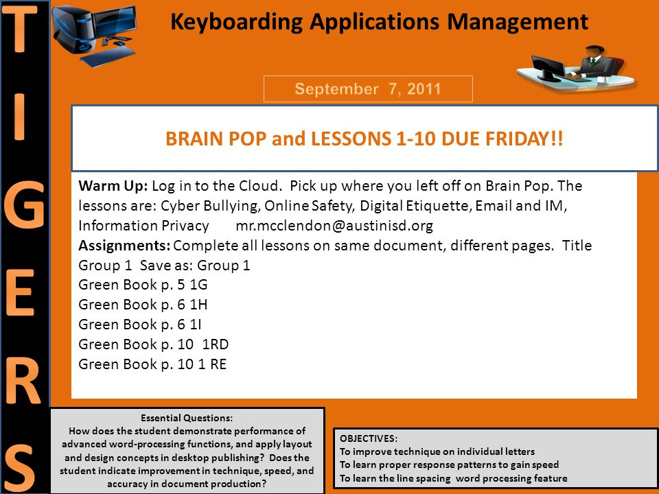 Essential Questions: How does the student demonstrate performance of advanced word-processing functions, and apply layout and design concepts in desktop publishing.