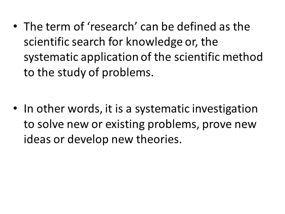 There are three research types.