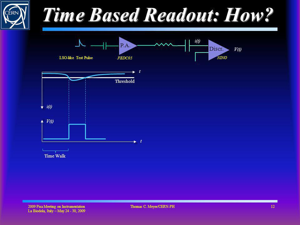 Time Based Readout: How.