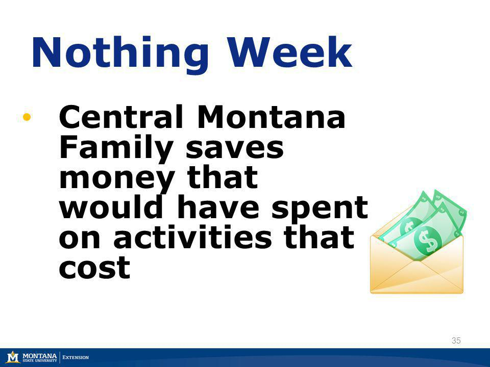 35 Nothing Week Central Montana Family saves money that would have spent on activities that cost