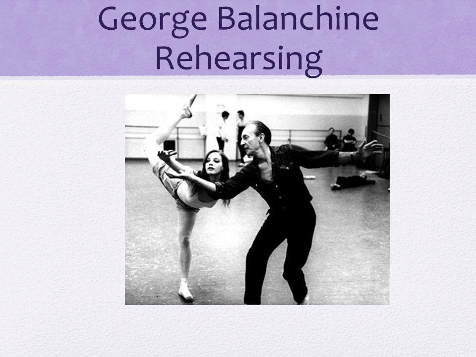 George Balanchine Rehearsing