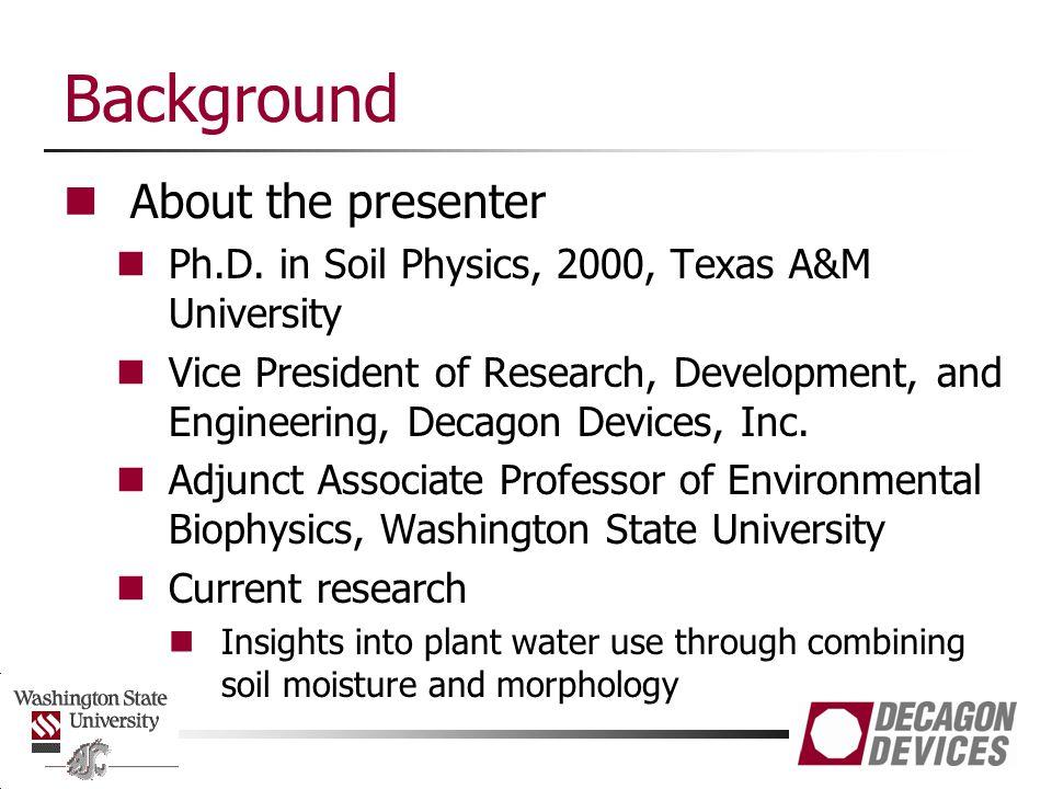 Outline Water content: Gravimetric vs.Volumetric Direct vs.