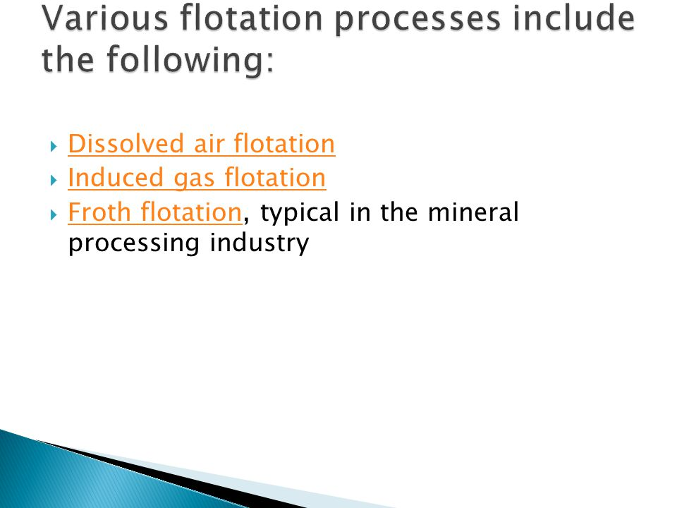 Dissolved air flotation (DAF) is a water treatment process that clarifies wastewaters (or other waters) by the removal of suspended matter such as oil or solids.