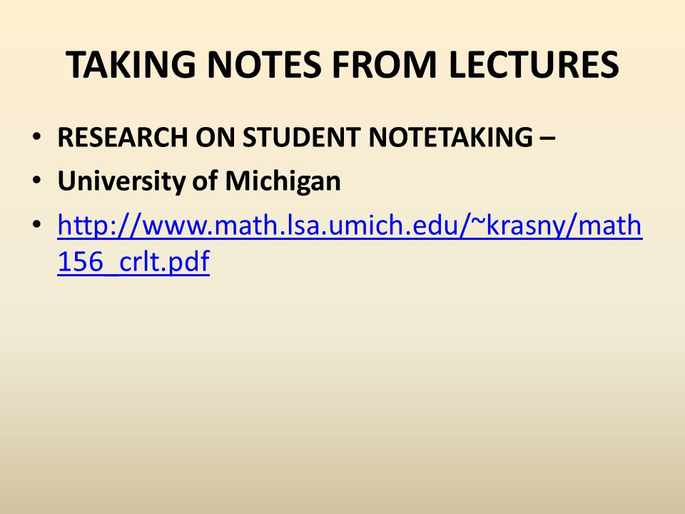 Introduction: Notetaking has been a staple activity of academic life, particularly in lecture courses, for decades.