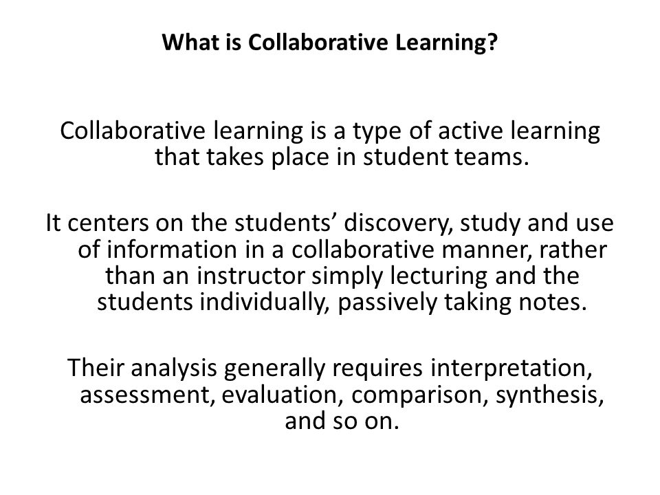 What Are the Benefits of Collaborative Learning.