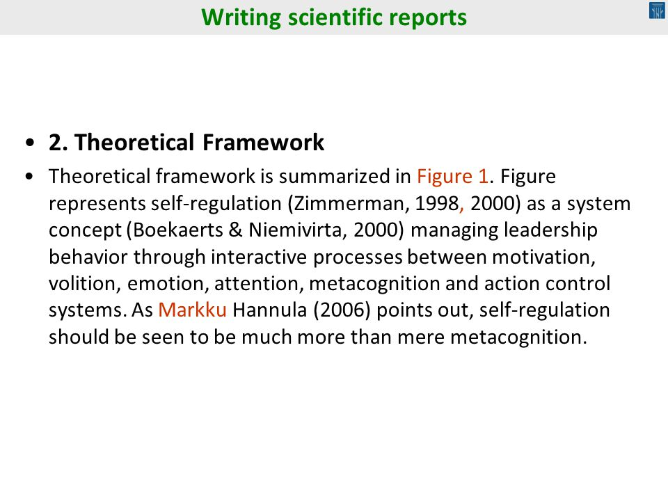 2. Theoretical Framework Theoretical framework is summarized in Figure 1. Figure represents self-regulation (Zimmerman, 1998, 2000) as a system concep