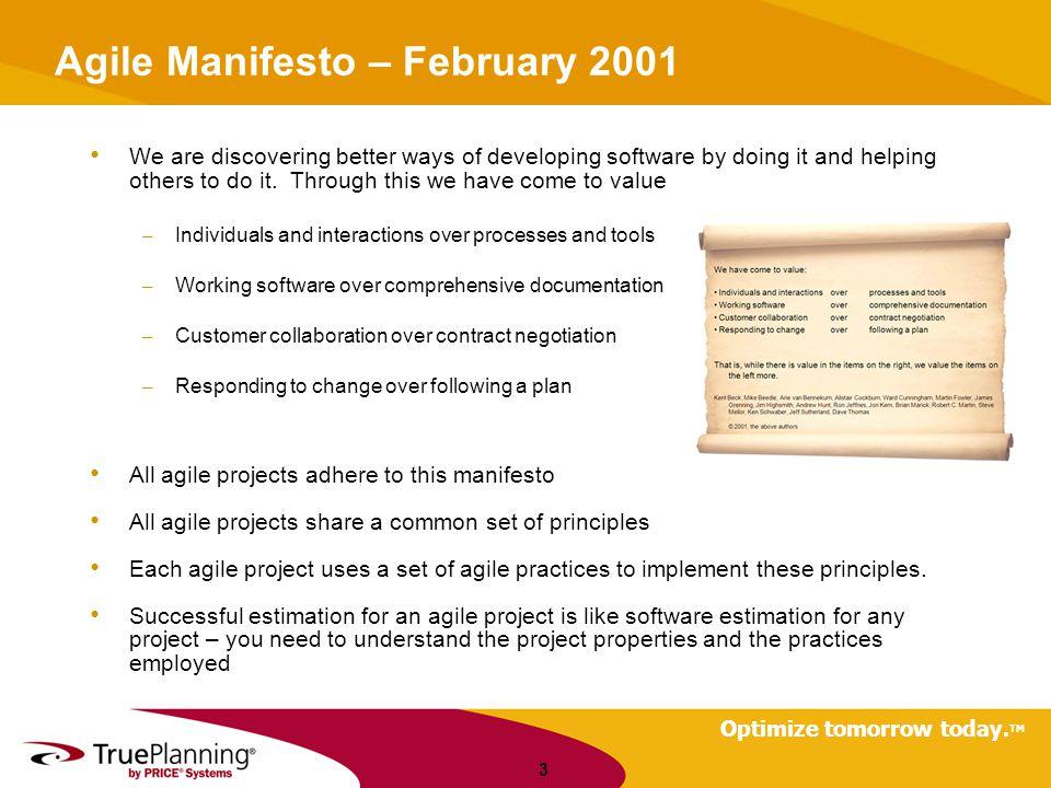 Optimize tomorrow today. TM Organizational Productivity 24