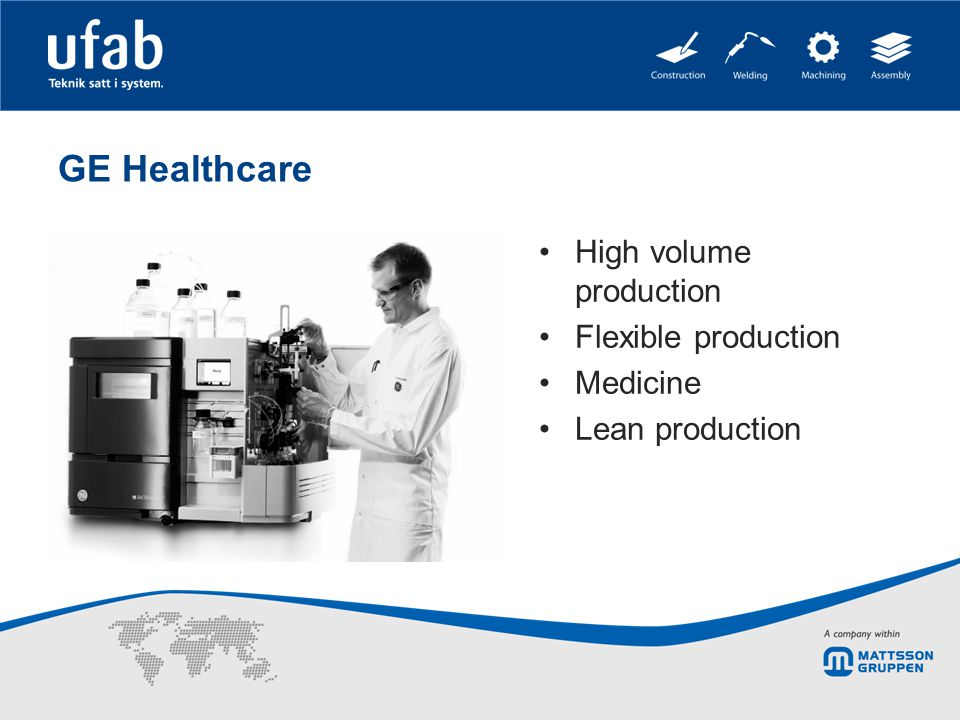 GE Healthcare High volume production Flexible production Medicine Lean production