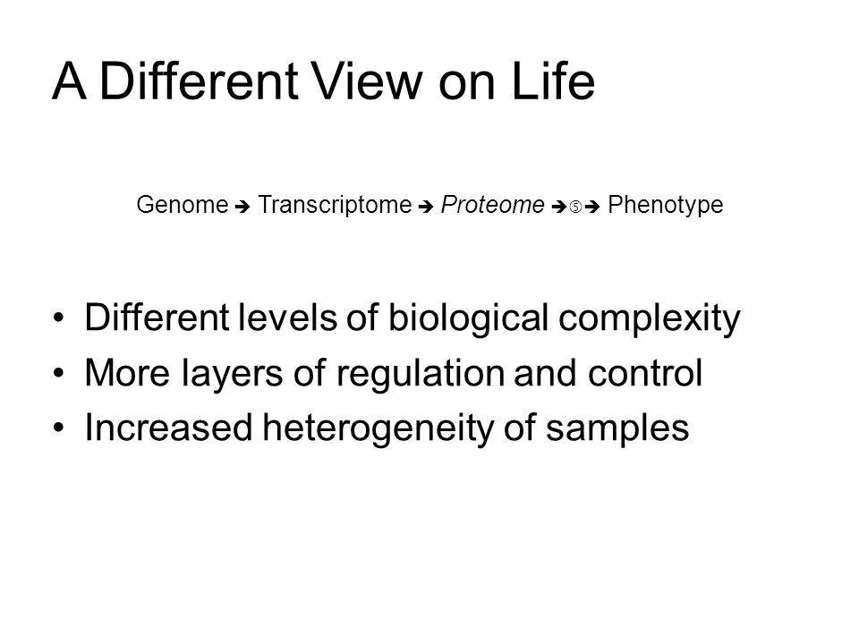 Why consider Proteomics.Orthogonal verification of gene activity.