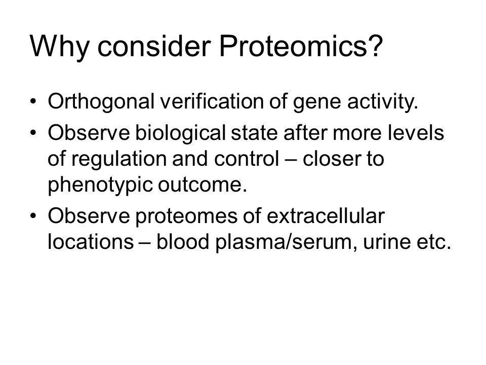 Proteomics Classical biochemistry Two-dimensional gels (2DGE) Mass spectrometry Computational analysis