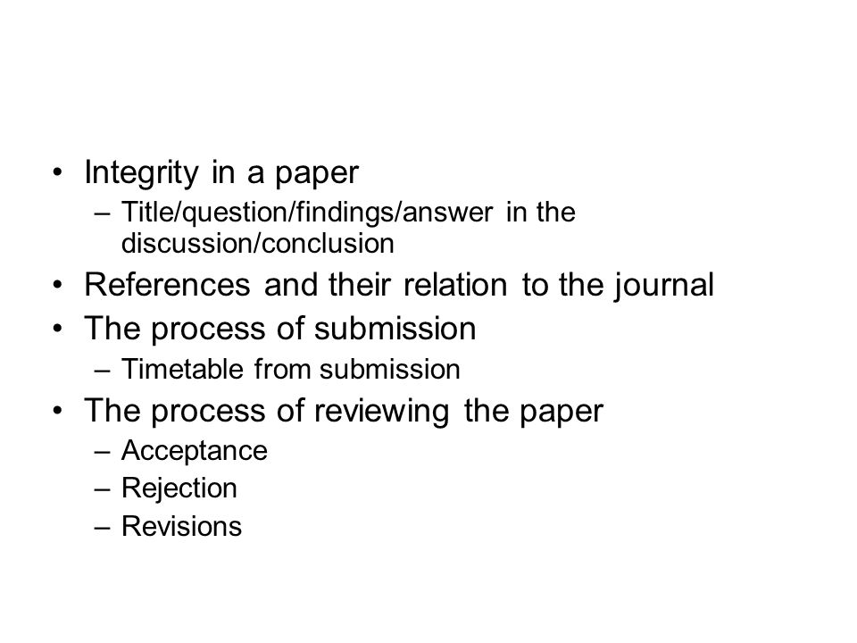 –How to arrange the paper title Introduction Materials and methods Results/findings Discussion Acknowledgement references