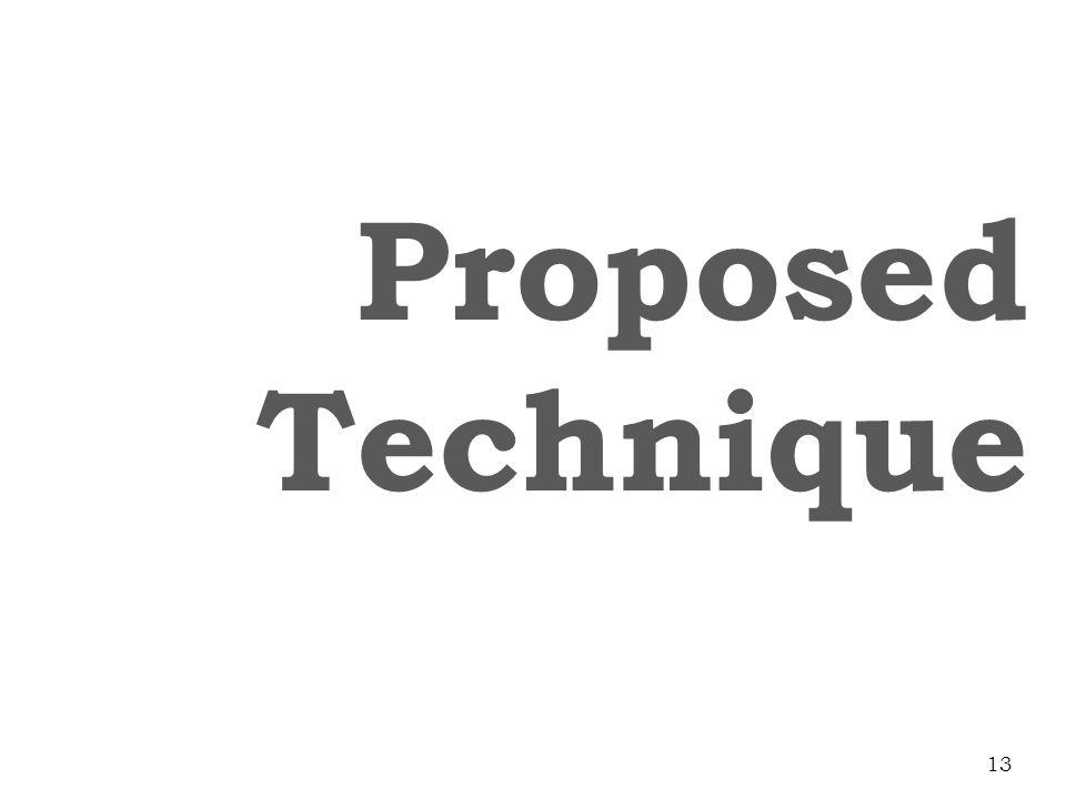 Proposed Technique 13