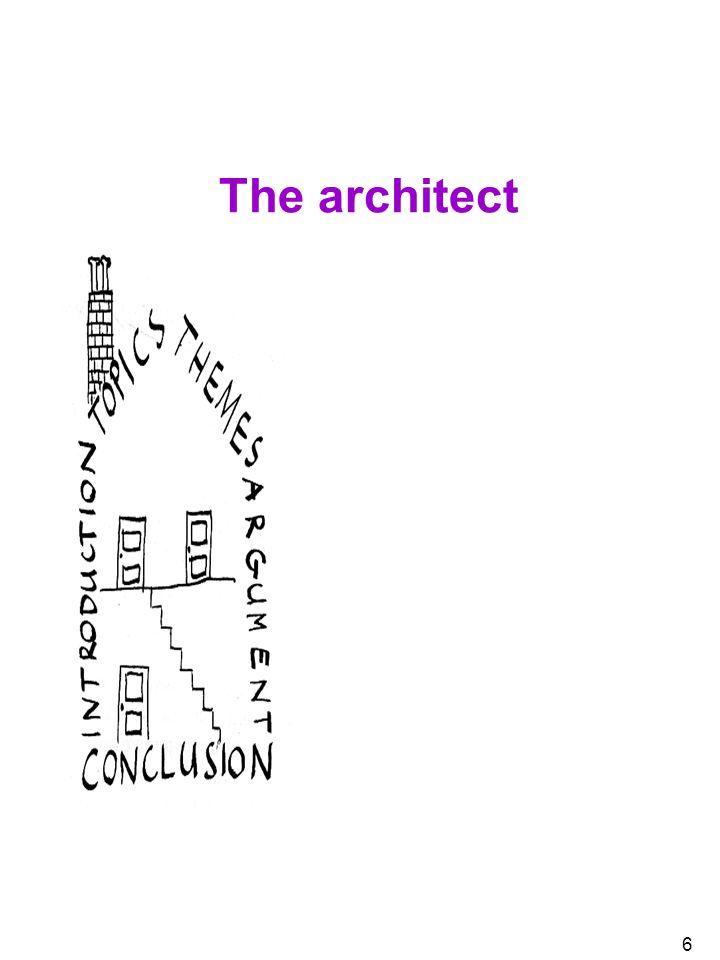 6 The architect