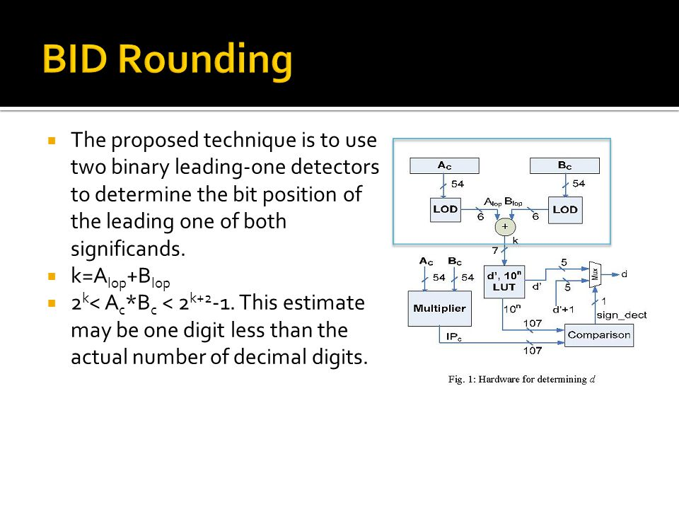 The proposed technique is to use two binary leading-one detectors to determine the bit position of the leading one of both significands.