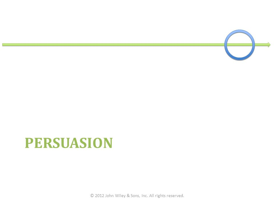 PERSUASION © 2012 John Wiley & Sons, Inc. All rights reserved.