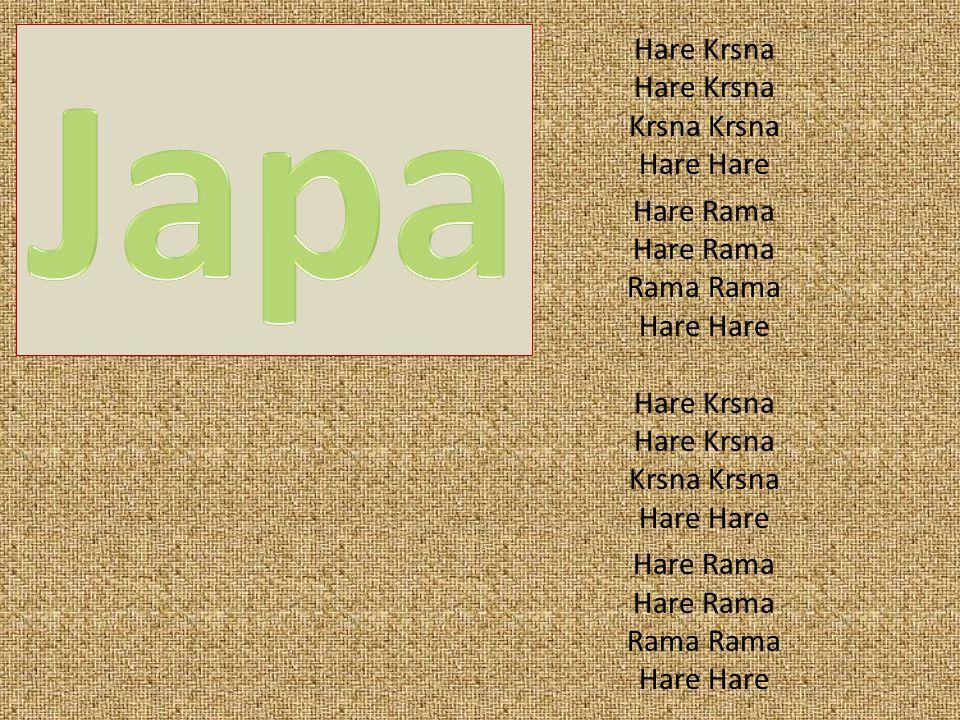 Hare Krsna Krsna Hare Hare Rama Rama Hare Hare Krsna Krsna Hare Hare Rama Rama Hare