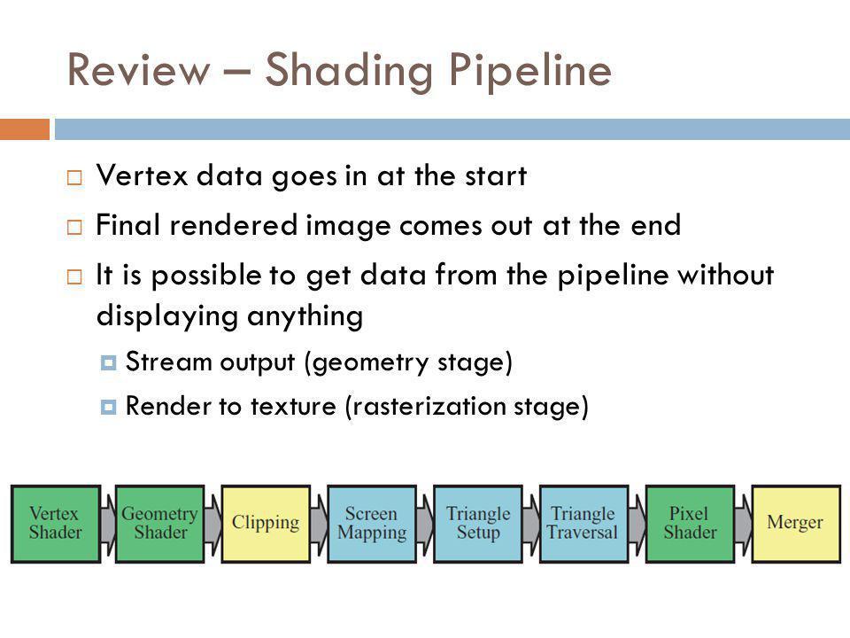 Setting up OpenGL // Create a texture data = new GLubyte[800 * 600 * 3]; glGenTextures(1, &texture); glBindTexture(GL_TEXTURE_2D, texture); glTexImage2D(GL_TEXTURE_2D, 0, 3, 800, 600, 0, GL_RGB, GL_UNSIGNED_BYTE, data); // Create a framebuffer glGenFramebuffers(1, &fbo); glBindFramebuffer(GL_FRAMEBUFFER, fbo); // Attach texture glFramebufferTexture2D(GL_FRAMEBUFFER, GL_COLOR_ATTACHMENT0, GL_TEXTURE_2D, texture, 0); glTexParameteri(GL_TEXTURE_2D,GL_TEXTURE_MIN_FILTER,GL_LINEAR); glTexParameteri(GL_TEXTURE_2D,GL_TEXTURE_MAG_FILTER,GL_LINEAR);