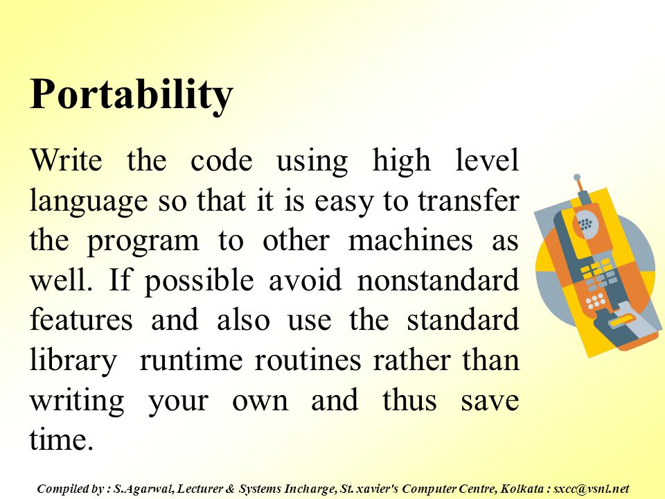 Compiled by : S.Agarwal, Lecturer & Systems Incharge, St.