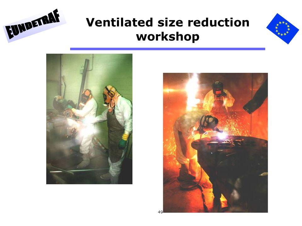 49 Ventilated size reduction workshop