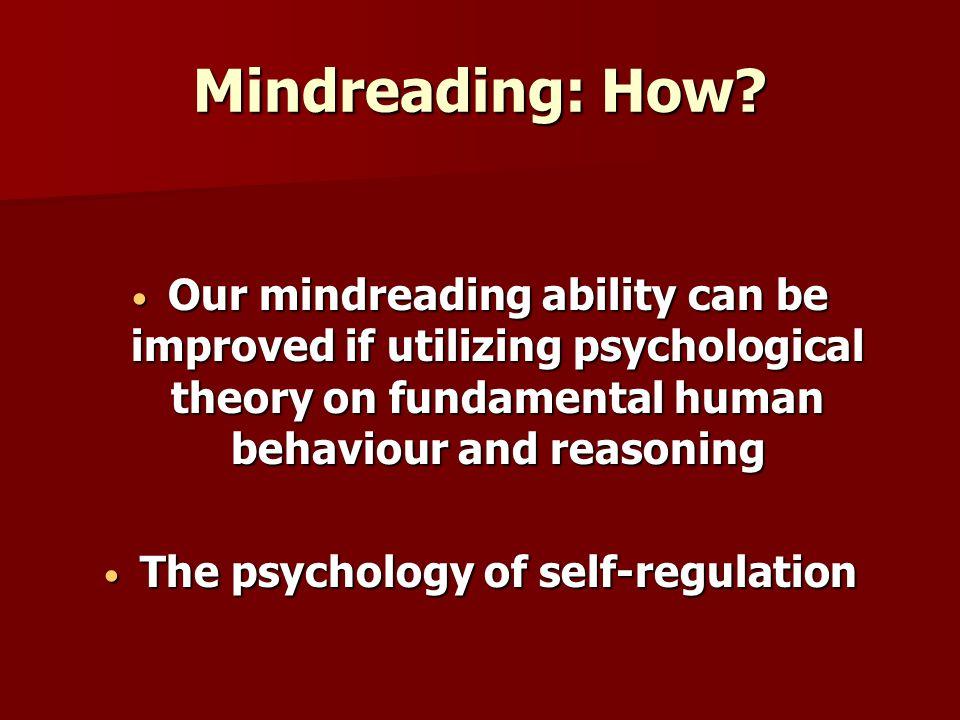 Mindreading: How.