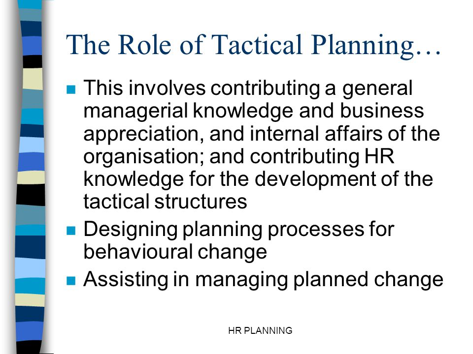 HR PLANNING The Four Phases of the HR Planning… 1.
