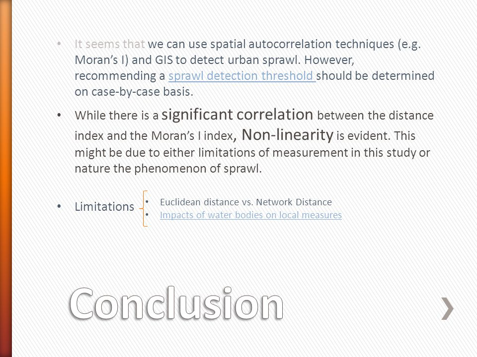 It seems that we can use spatial autocorrelation techniques (e.g.