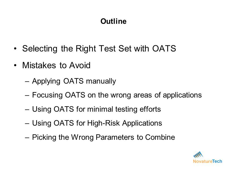 Why Use Orthogonal Array Testing.