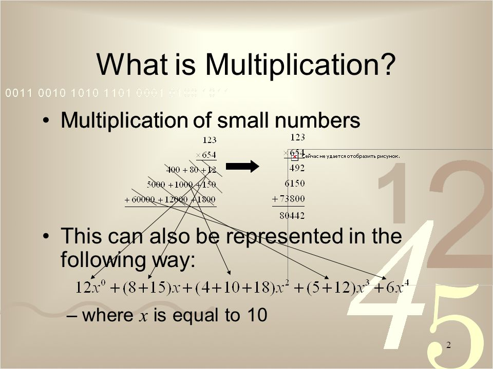 2 What is Multiplication.