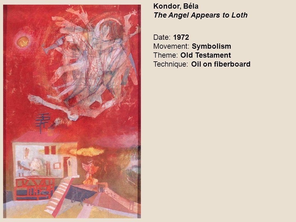 Kondor, Béla The Judge (Angel with Knife) Date: 1969 Movement: Symbolism Theme: Genre Technique: Oil on canvas