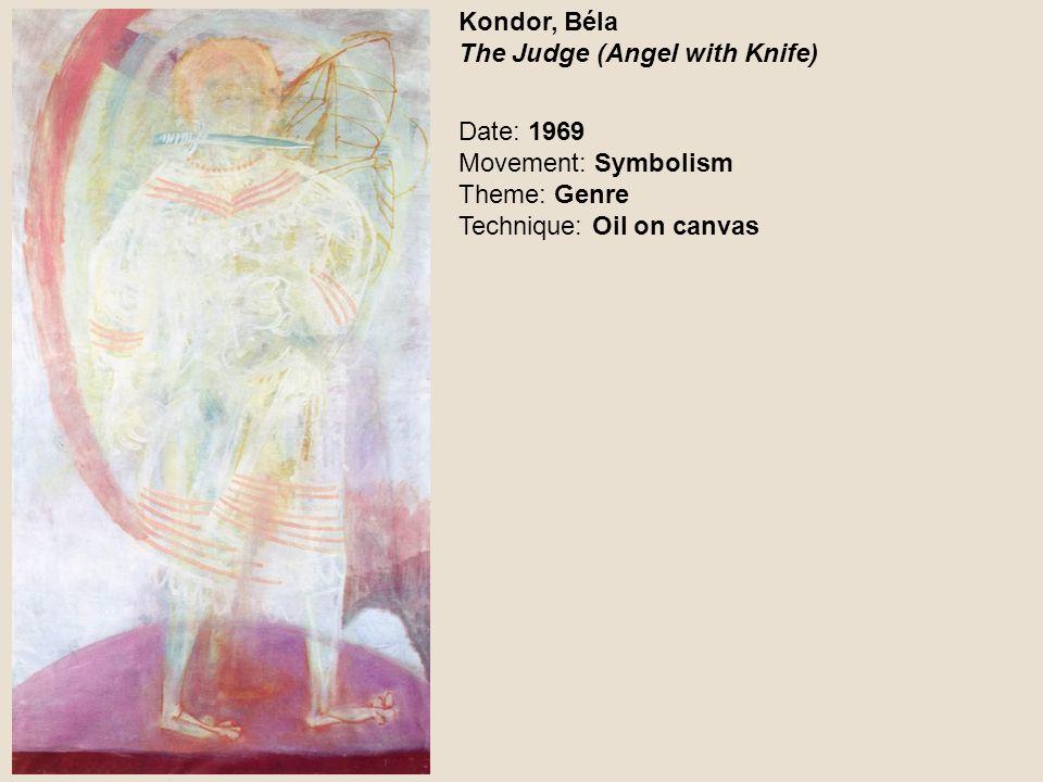 Kondor, Béla Two Cherubs in Sodoma Date: 1972 Movement: Symbolism Theme: New Testament Technique: Oil on wood