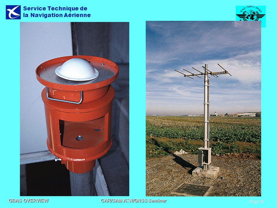 Page 10 GBAS OVERVIEW CAR/SAM ATN/GNSS Seminar Service Technique de la Navigation Aérienne