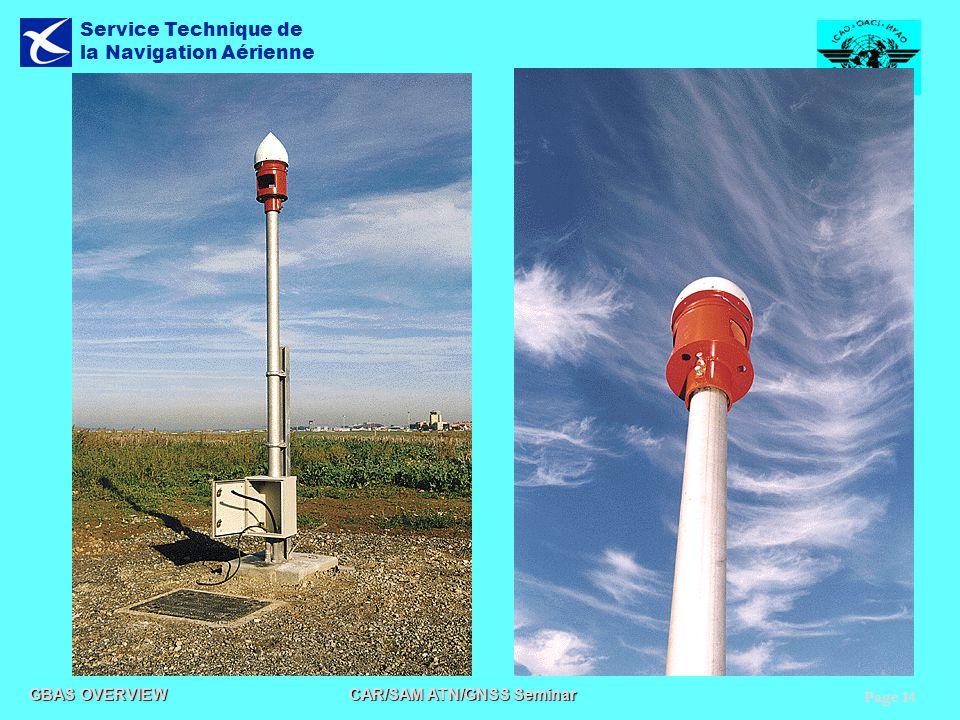 Page 14 GBAS OVERVIEW CAR/SAM ATN/GNSS Seminar Service Technique de la Navigation Aérienne