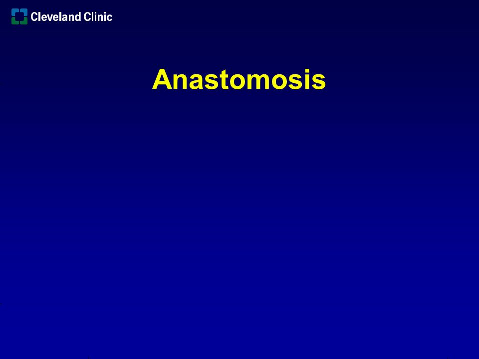 Issues Blood Supply Reach Reconstruction Anastomosis