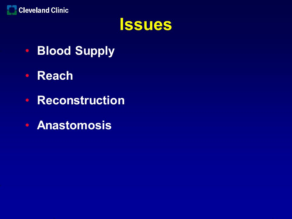 Blood Supply Reach Issues