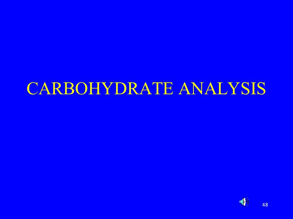 49 Introduction Next to water, carbohydrates are the most abundant food component %carbohydrate=100% - (H 2 O + ash + fat + protein) Types of carbohydrates include; –monosaccharide: glucose, fructose, galactose –disaccharide: sucrose, lactose, maltose –oligosaccharids: raffinose –polysaccharide: starch, cellulose