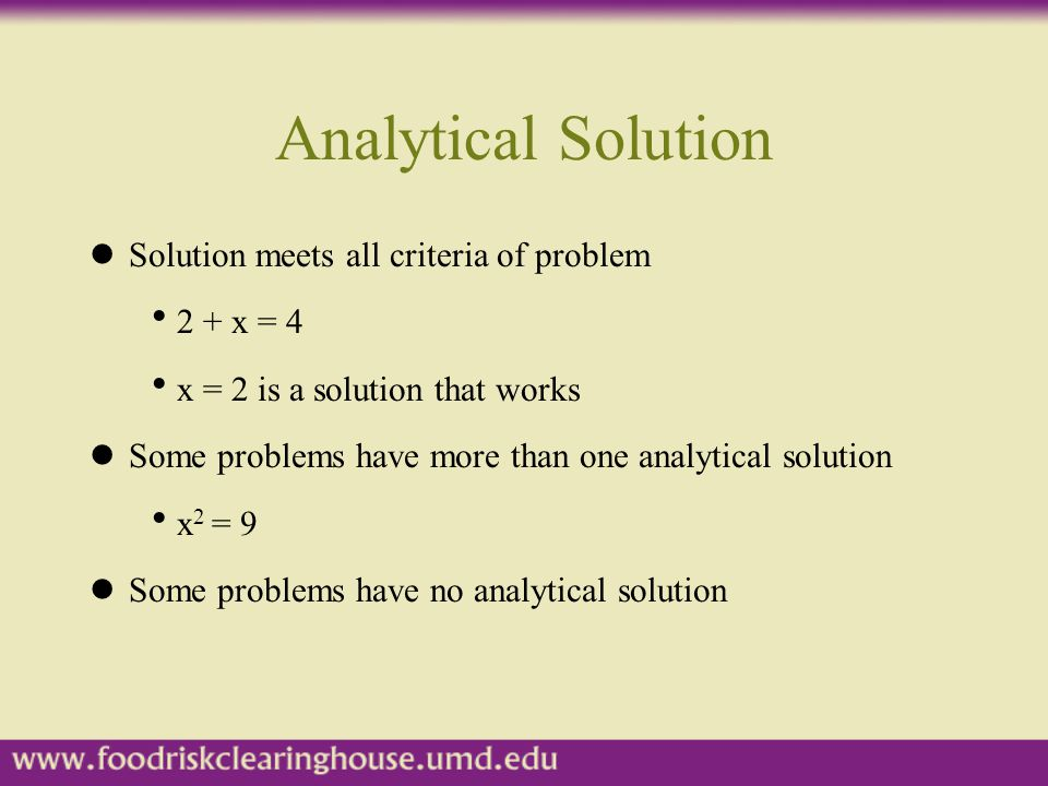Simulation lNumerical technique used to estimate analytical solutions to a problem lNot an optimization technique, answers what-if questions lResults are not analytical solutions lAnalytical solutions are preferred