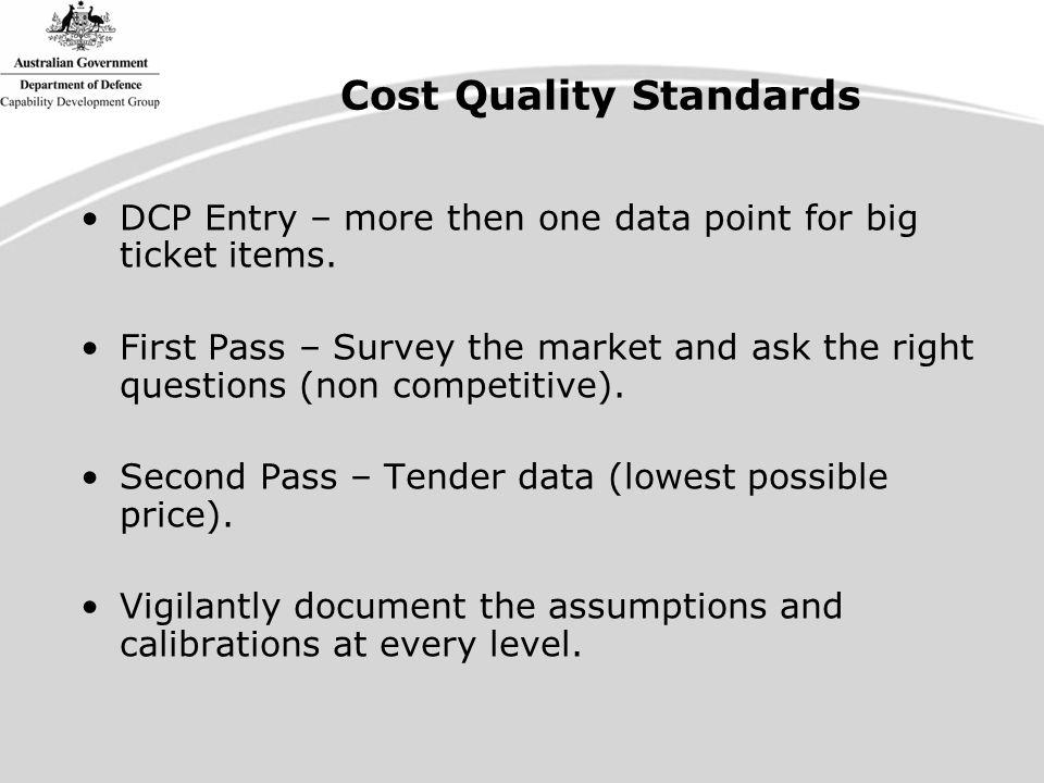 DCP Entry – more then one data point for big ticket items.