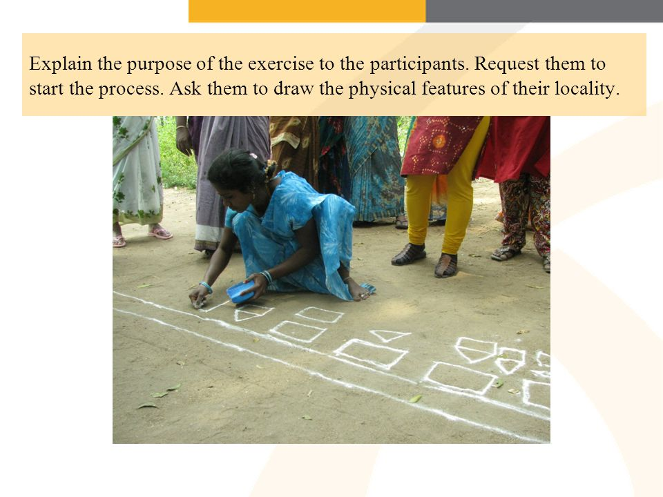 Explain the purpose of the exercise to the participants.
