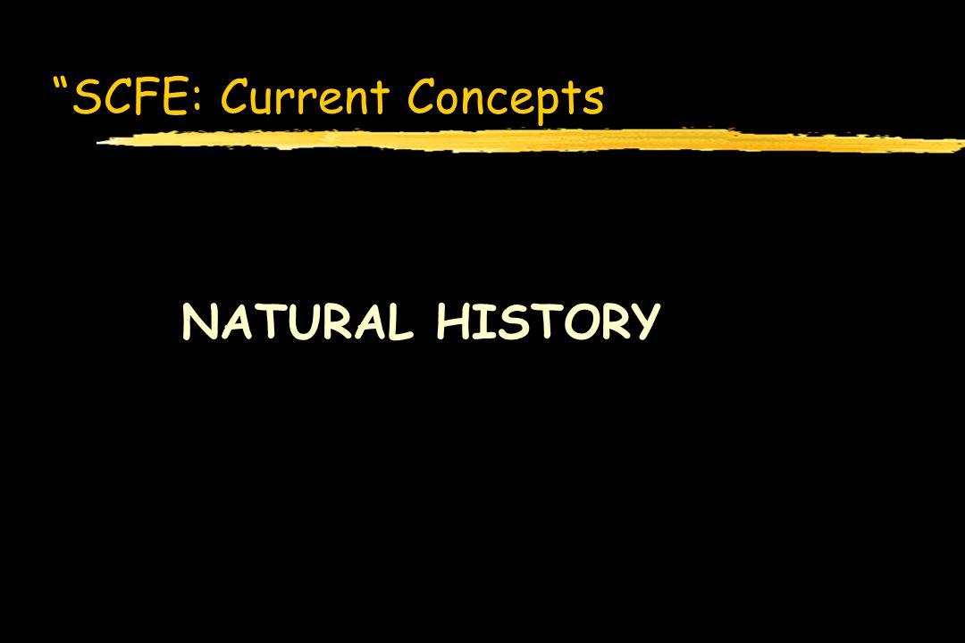 SCFE: Current Concepts NATURAL HISTORY