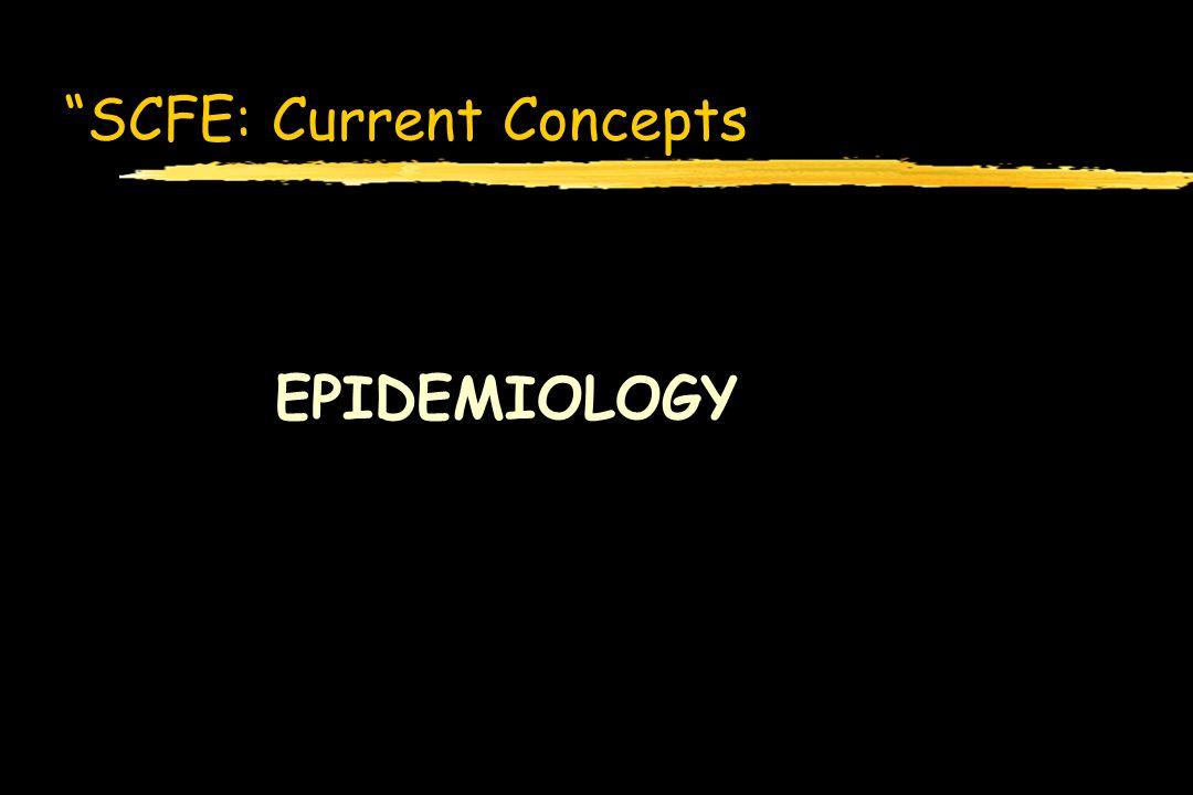 SCFE: Current Concepts EPIDEMIOLOGY