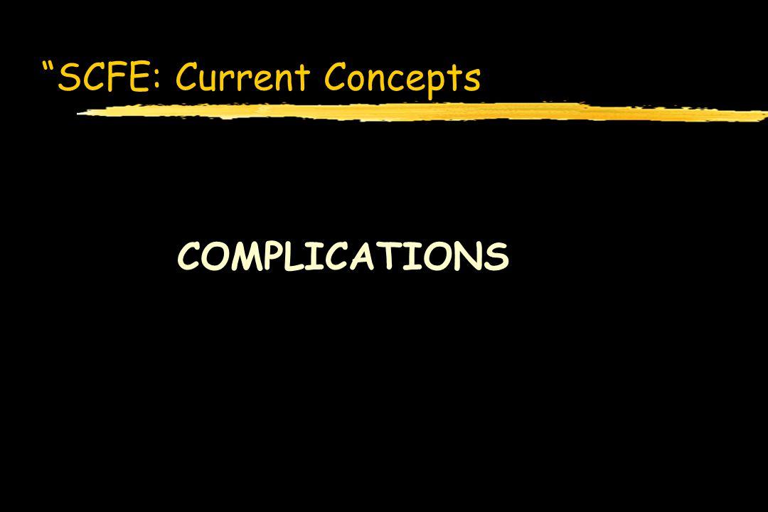 SCFE: Current Concepts COMPLICATIONS