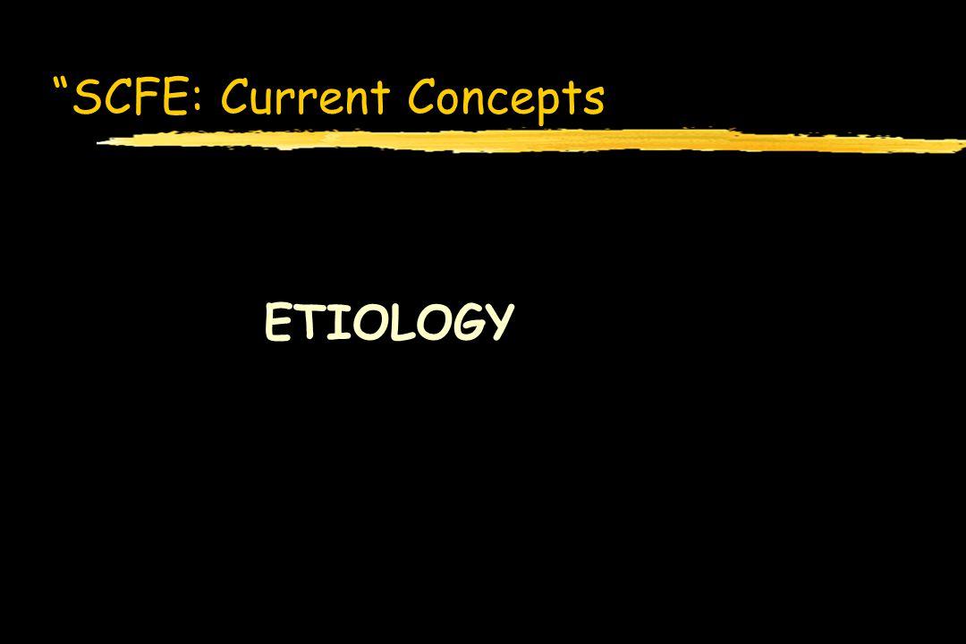SCFE: Current Concepts ETIOLOGY