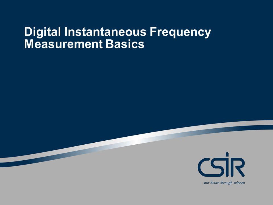 Digital Instantaneous Frequency Measurement Basics