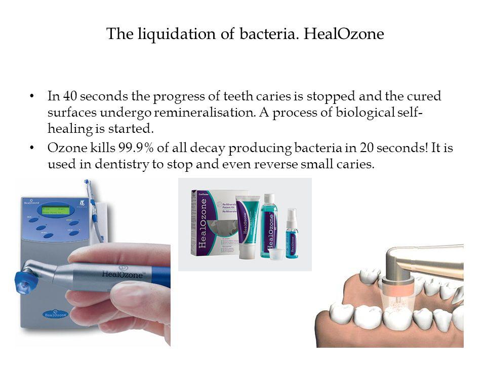 The liquidation of bacteria.