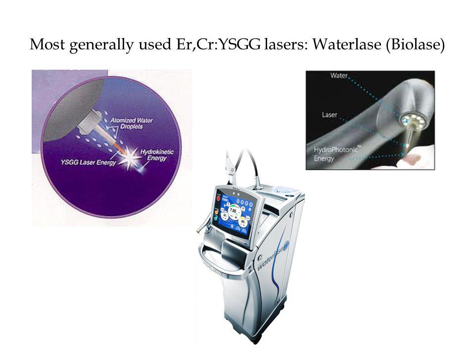 Most generally used Er,Cr:YSGG lasers: Waterlase (Biolase)