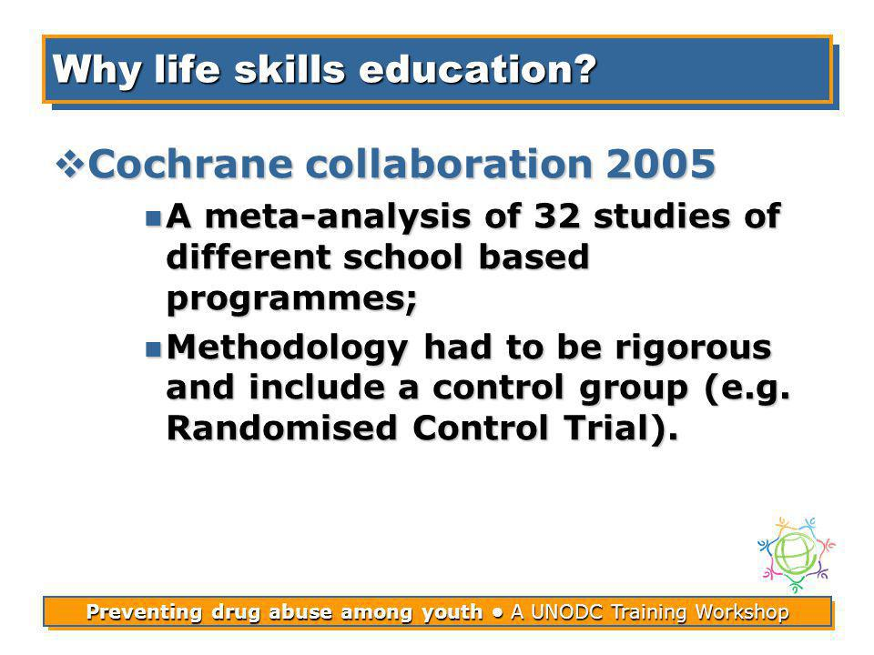 Preventing drug abuse among youth A UNODC Training Workshop Why life skills education.