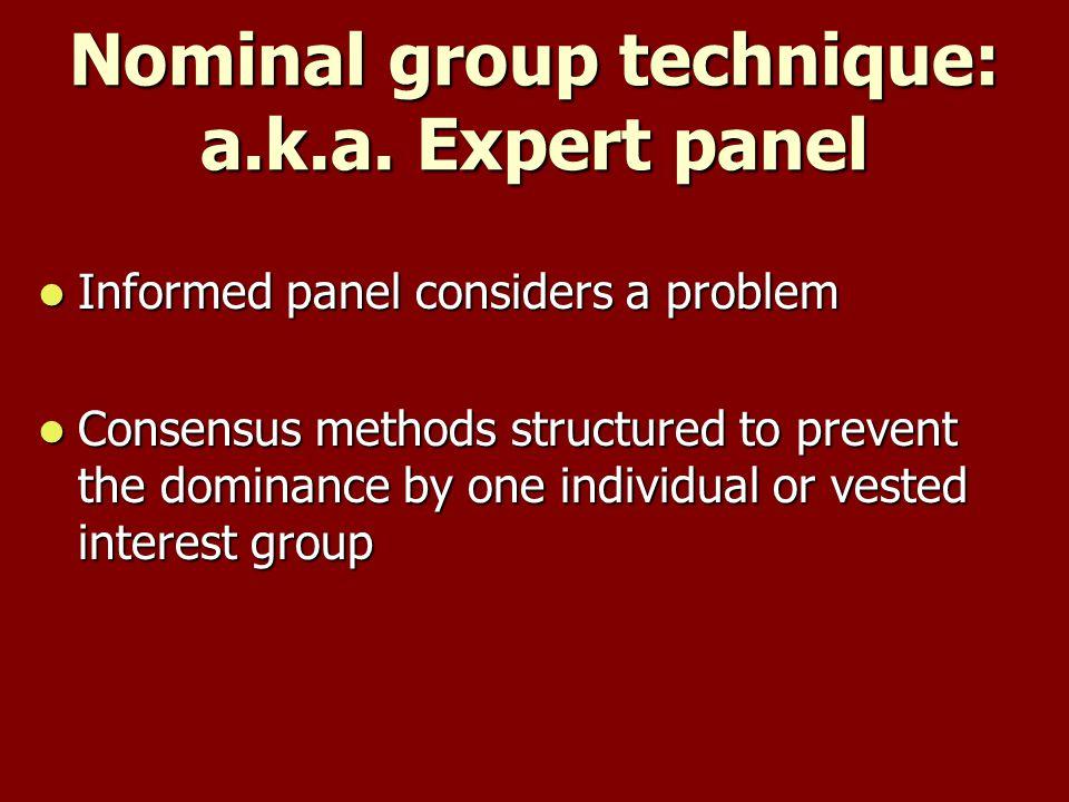 Nominal group technique: a.k.a.
