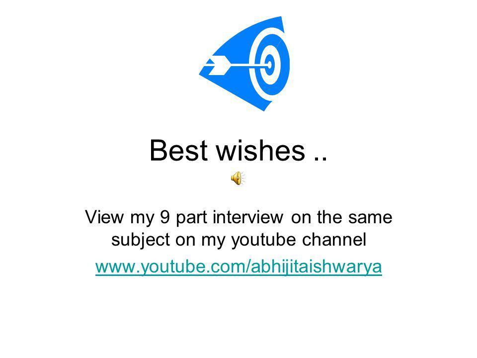 Best wishes..