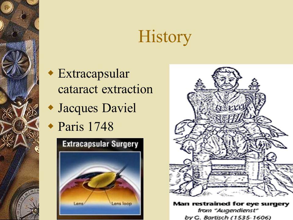 History Extracapsular cataract extraction Jacques Daviel Paris 1748 15