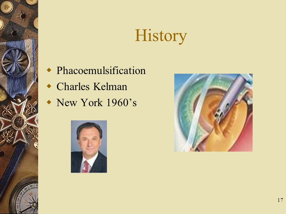 History Phacoemulsification Charles Kelman New York 1960s 17